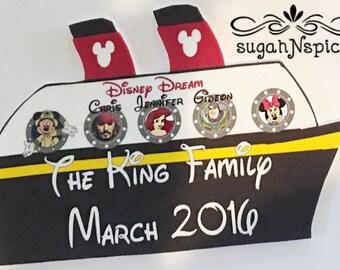 Disney Cruise Door Magnet - Personalized Disney Cruise Ship - Disney Cruise - Cabin Door Magnet - Cruise Door Magnet - Disney Dream Magnet
