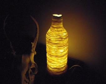 handmade translucent glimmering ceramic bottle lamp-CUSTOM ORDER