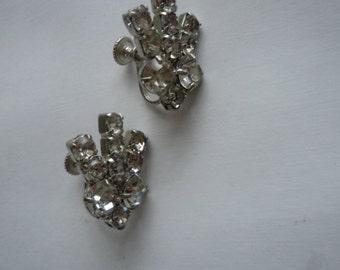 1960s Rhinestone Earrings