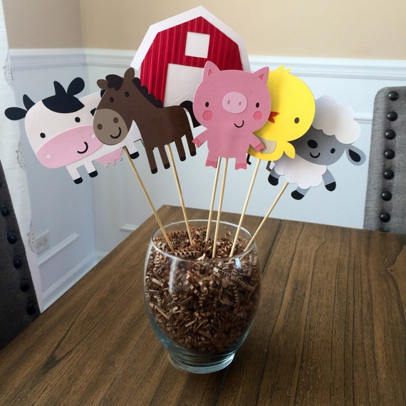 Farm Animals Centerpieces or cake toppers, Farm/Farm Theme Party
