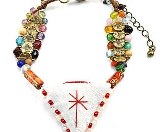 Boho bracelet with talisman,  Bohemian bracelet, Amulet bracelet, Bohemian jewelry, Boho jewelry, Bracelet for women, Gift for women