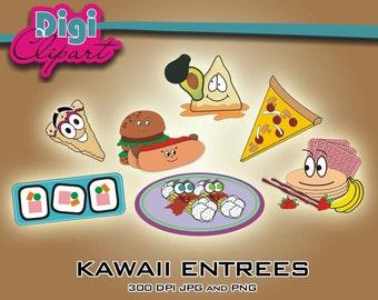 Kawaii Food Clip Art - Digital Download