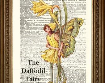 "FAIRY PRINTS: Vintage Dictionary Page Art (size 8 x 10"")"