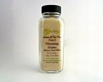 Lemon & Tea Tree 3-in-1 Cleansing Grains - for Combo, Oily, Acne Skin (Cleanser, Exfoliant, Mask)
