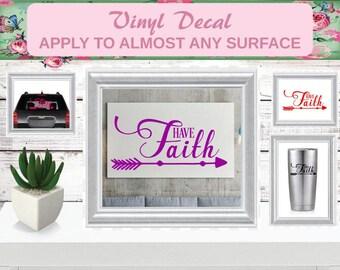 Faith Decal, Car Decal, Faith Car Decal, Faith Sticker, Faith Wall Decor, Faith Wall Art, Christian Sign, Christian Decal, Christian, Pastor