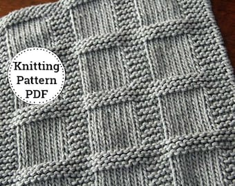 Knitting Pattern | Dishcloth Pattern | Washcloth Pattern | Knitted Dishcloth | Bridgette