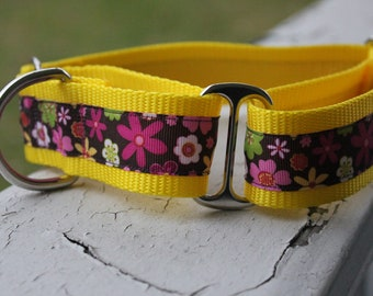 "Wildflower Power 1.5"" Martingale Collar"