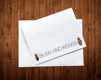 Greeting Card - Bugs and Kisses