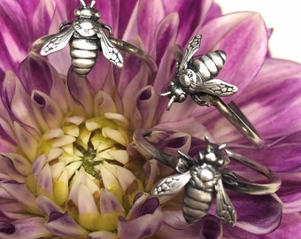 Bee Stacking Ring - Made To Order In Your Size