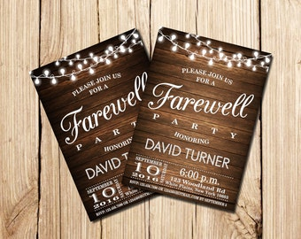 invitation to a farewell party farewell party invitation farewell invitation rustic invitation to a farewell party