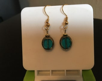 Translucent Blue Drop Earrings