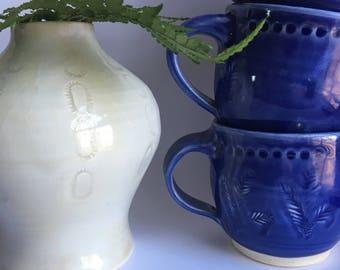 Cobalt Blue Mug, 8 oz. Mug, Handmade Pottery Mug