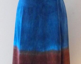 Tie Dye Maxi Dress in Lapis Lazuli Desert