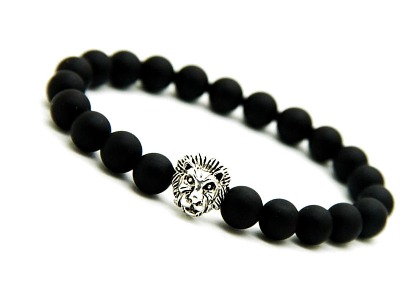 black jewelry gift personalized stoneriverjewelry engraved onyx products bracelet mens