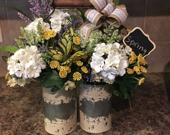 Spring rustic floral arrangement/Mother's Day gift