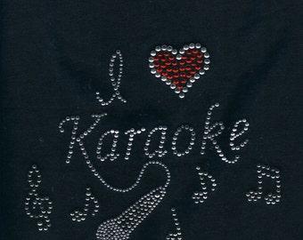 Karaoke Rhinestone Shirt