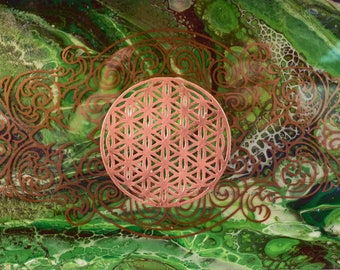 Sacred Forest Flower of Life Shadow Box