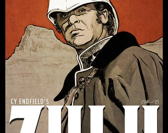 ZULU movie poster full colour art print