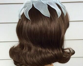 Vintage Veil Or Hat Pale Blue ... Orandy Petal Hat