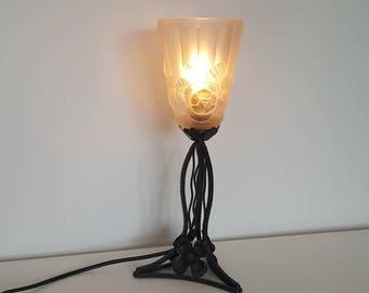 Art deco lamp etsy art deco lamp vintage table lamp bedside lamp french antique lamp mood aloadofball Images