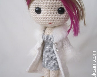PDF Crochet Pattern for Deniz Doll Outfit - Winter Time
