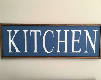 Framed, rustic, farmhouse Kitchen sign