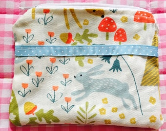 Multi-purpose purse, wallet, coin pouch - Woodland print