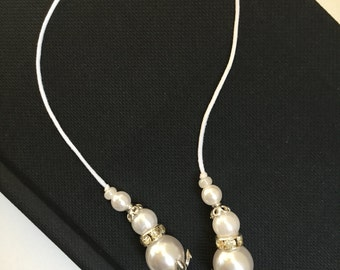 String Beaded Bookmarker Pearl
