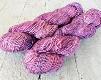 "Hand Dyed Sock Yarn, 75/25 Superwash Merino - Nylon, Sycamore Sock ""Bored Now Misfit"""