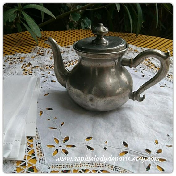 Victorian Teapot 1880's French Silver Plated Home Decor Collectible #sophieladydeparis