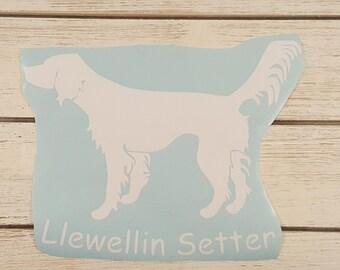 Llewellin Setter Vinyl Decal, Car window Decal, Hunting