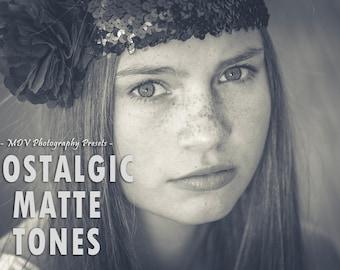 Nostalgic Matte Tones Lightroom Presets, matte, portrait, black, white, family, film, kids, rustic, lightroom, preset, presets