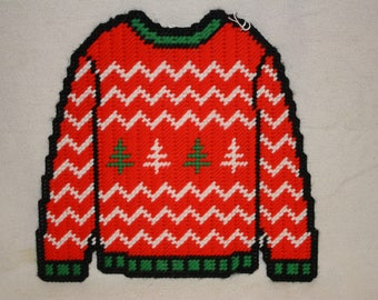 Ripple ugly sweater wall hanging