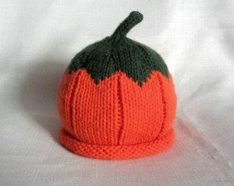 Knit Pumpkin Baby Hat great photo prop