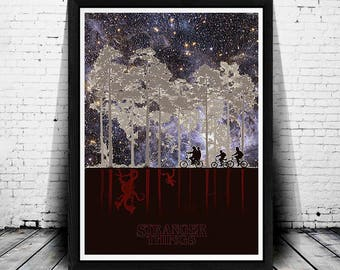 Stranger Things Poster, Stranger Things Wall Art, Galaxy, Stranger Things Print, Stranger Things Art, Stranger Things Tv Show, Stiven King