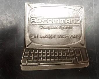 vintage A G command computer  belt buckle