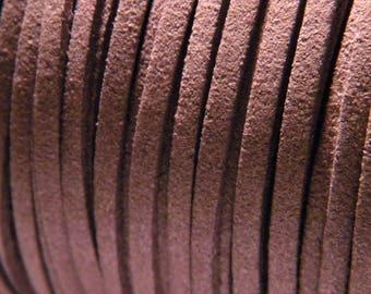 1 M cord - 3mm X 1.5 mm grey - No. 90