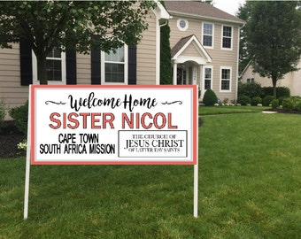 Missionary Welcome Home Banner 1, LDS Missionary Banner, Missionary Homecoming, Missionary Banner