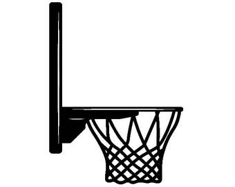basketball net svg etsy rh etsy com basketball goal clipart black and white basketball goal clipart free