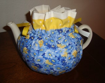 Yellow and Blue Flowers Tea Pot Cozy