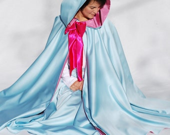 "Fairy Godmother Costume Set,  40"" Cape and Skirt, Sky Blue"