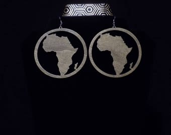 Wooden Afraka earrings
