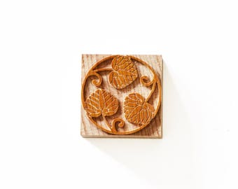 Letterpress Floral Ornament (No. 02) - Wood type, 2 pieces