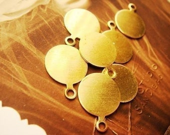 24Pcs Antique Brass Tag for cabochons Charm Finding E-H04