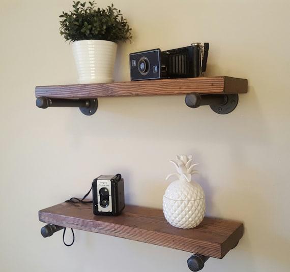 12 deep floating pipe shelf. Black Bedroom Furniture Sets. Home Design Ideas