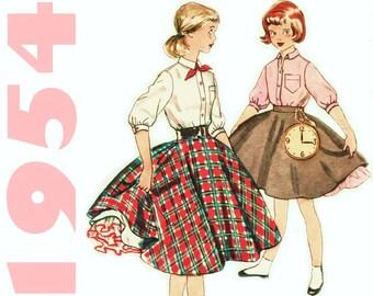 1950s Skirt Pattern SIMPLICITY 4859 sz 12 w25 UNCUT Rockabilly Skirt Circle Skirt Petticoat Skirt 1950s Felt Skirt Skate Skirt 1950s Blouse