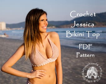 Jessica Crochet Bikini Top Pattern | Bralette Pattern | Crop Top Pattern | Halter Top Pattern | Crochet Bralette | DIGITAL DOWNLOAD