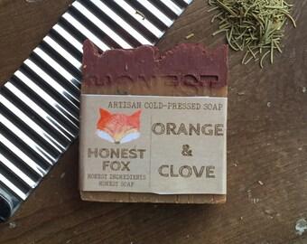 Orange & Clove all natural cold pressed soap