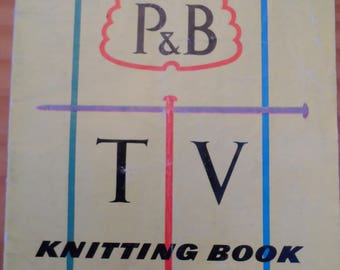 Vintage knitting pattern booklet with selection of items to make for the whole family