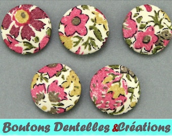 Buttons covered with Liberty - Dora-A - 18mm - (18-54)